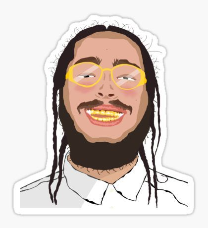Post Malone • Also buy this artwork on stickers, apparel.