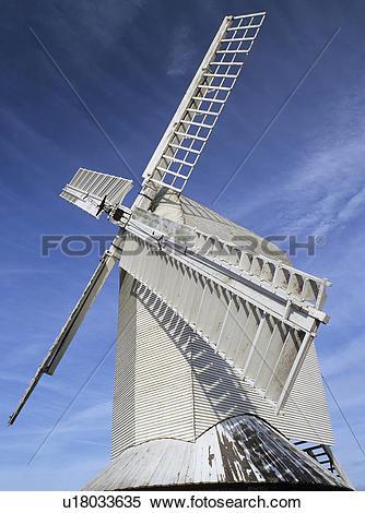 Stock Image of England, Surrey, Charlwood, Sails of Lowfield Heath.
