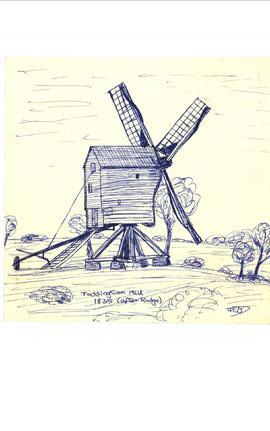 Toddington Post Mill, Toddington.