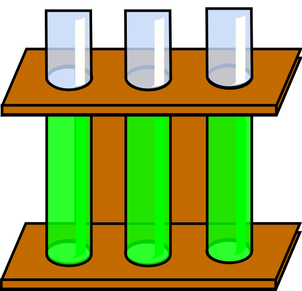 Empty Test Tubes Clipart.