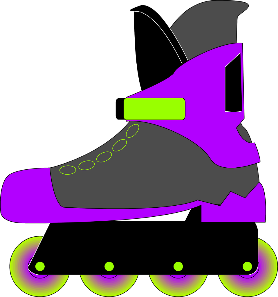 Pretty Roller Skate Clipart Picture.