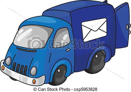Mail van Vector Clip Art EPS Images. 554 Mail van clipart vector.