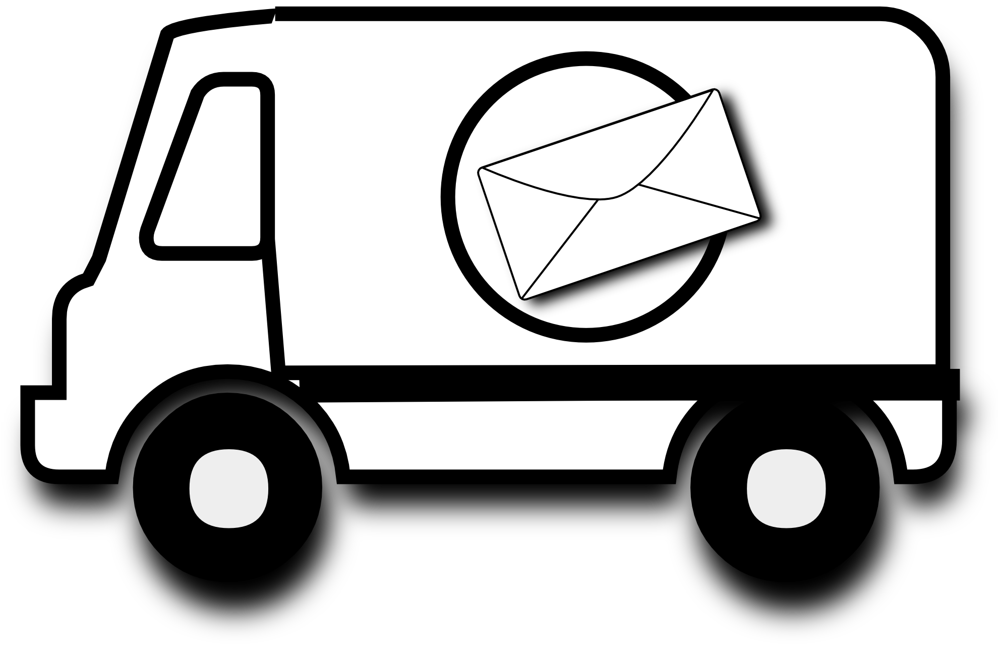 Post van clipart - Clipground
