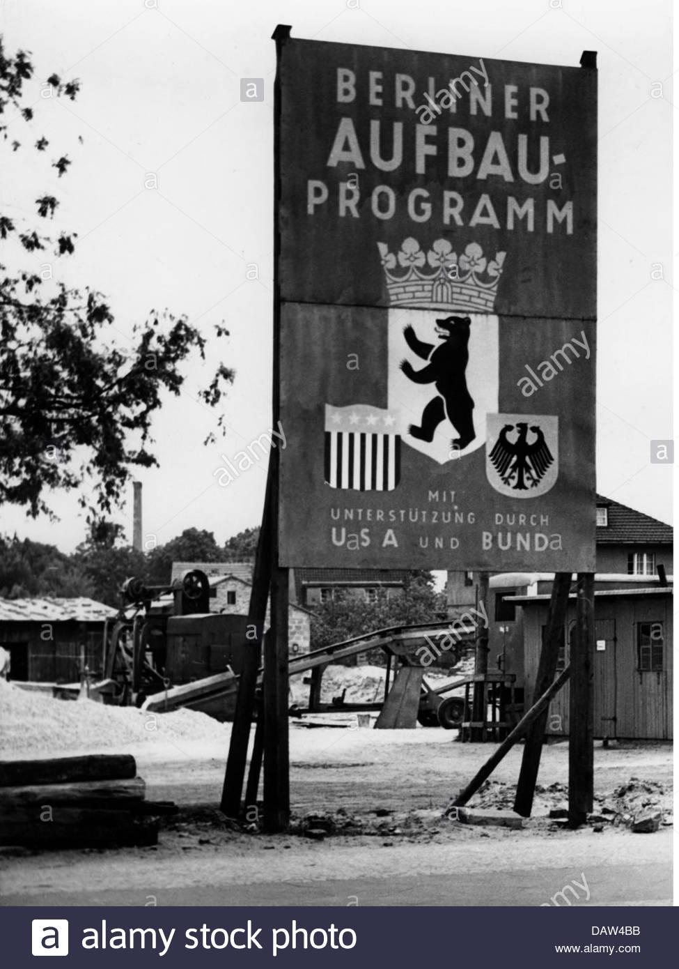 Post War Period, Reconstruction, Germany, Berlin, Sign, Berlin.