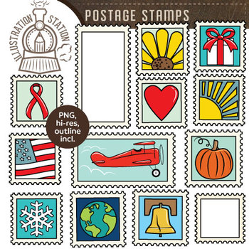FREE Postage Stamps Clip Art.