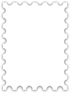 Blank Postage Stamp Template Dedicated To Susi Tekunan By.