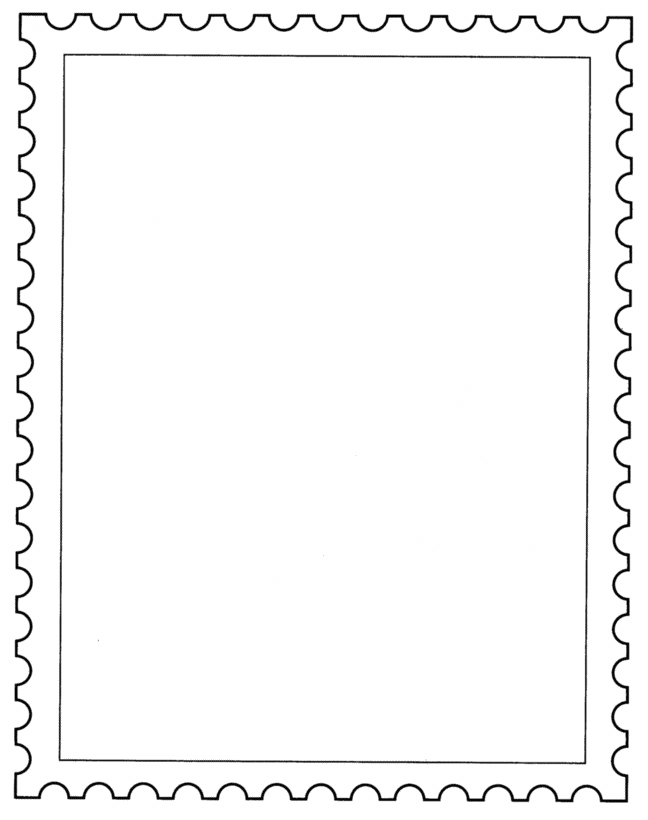 Postage Stamp PNG Transparent Image.