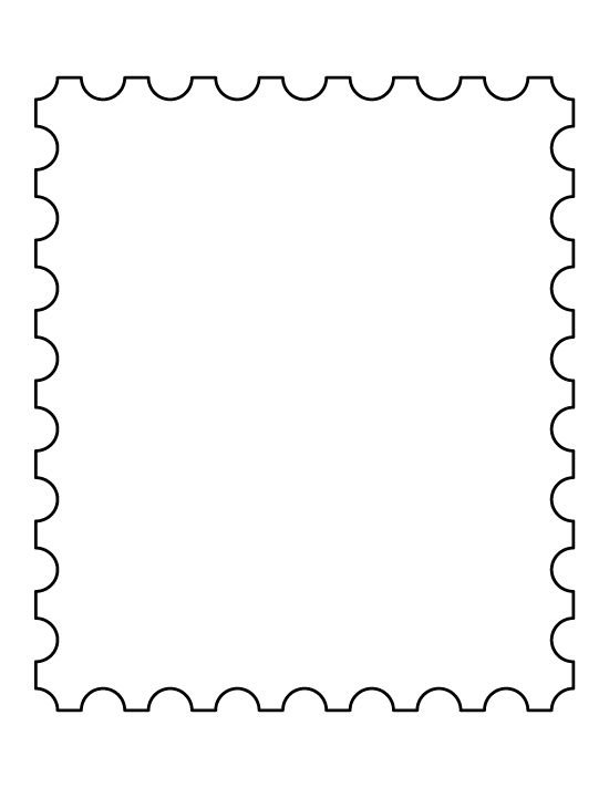Blank Postage Stamp Clipart.