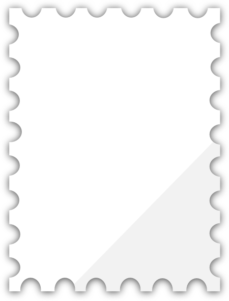 Blank Postage Stamp Template png #24412.