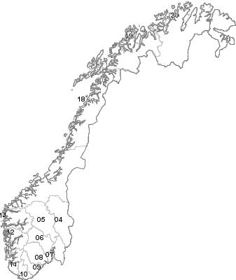 Postal Codes Norway.