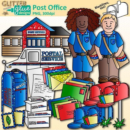 Post Office Clip Art {Postal Service Community Helpers for.