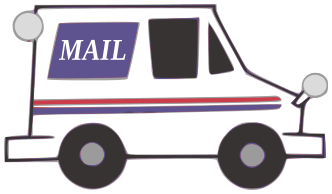 Showing post & media for Cartoon mail truck clip art.