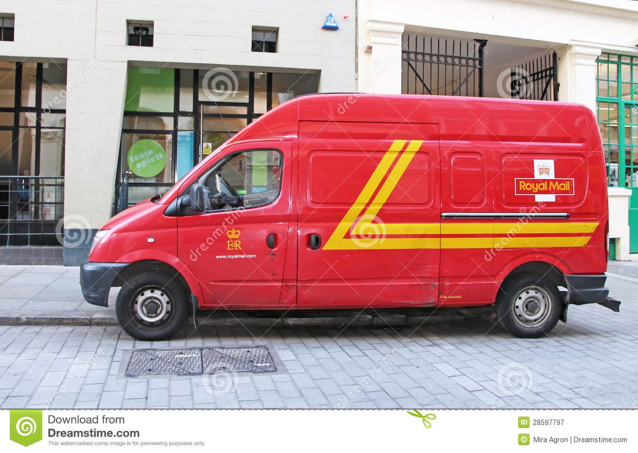 Royal Mail Van Editorial Photography.