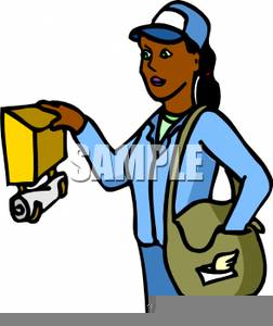 Postal Worker Clipart.