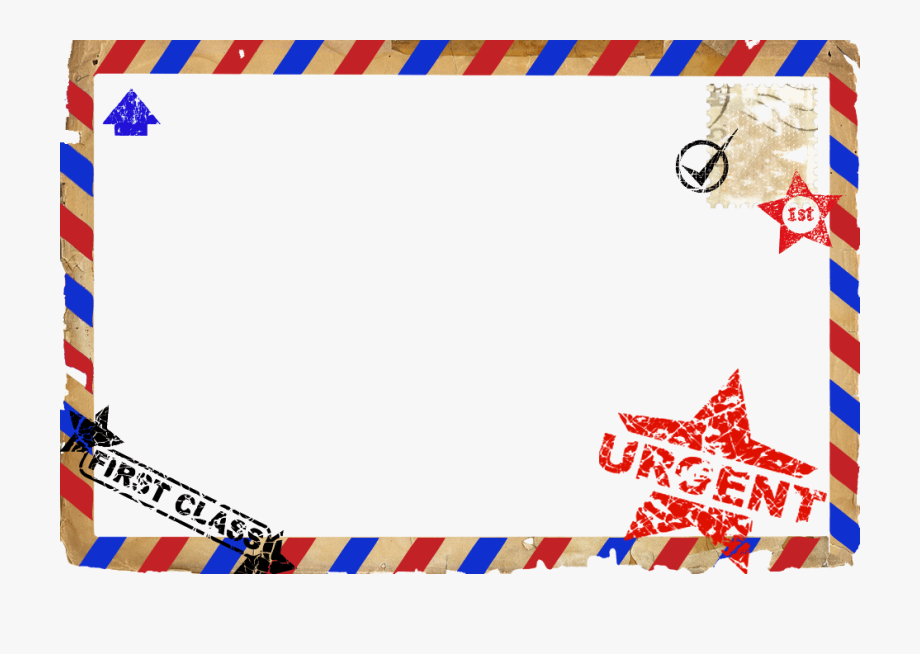Banner Freeuse Download Postcard Airmail Border Themed.