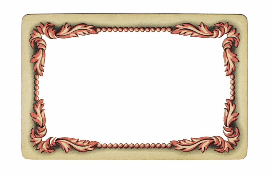 Valentine\'s Day And Baby Shower Fancy Vintage Frame.