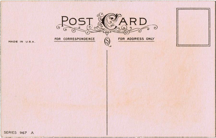 Free Printable Vintage Postcard.