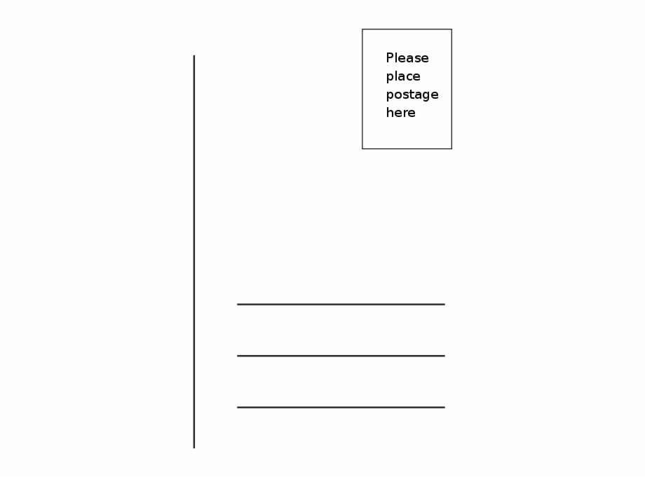 Blank Postcard Png.