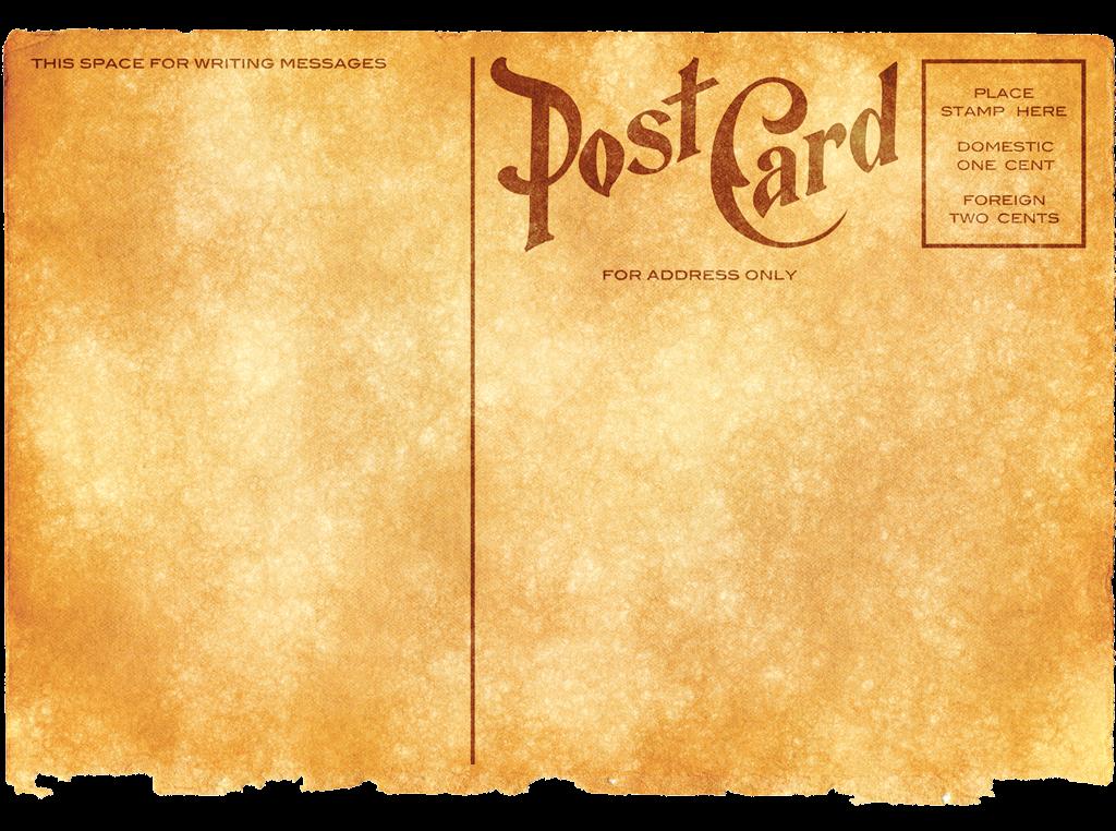 Vintage Postcard PNG Image.