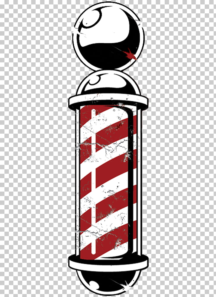 Barber\'s pole , barbershop, red and white barber pole.
