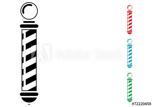 Pictograma poste de barbero con varios colores.
