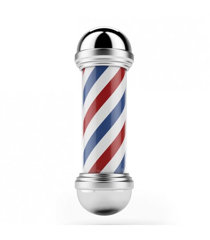 Poste de barbero, giratorio con luz.