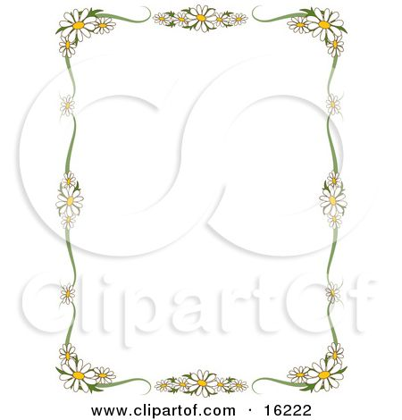 Borders For Poster Flower.