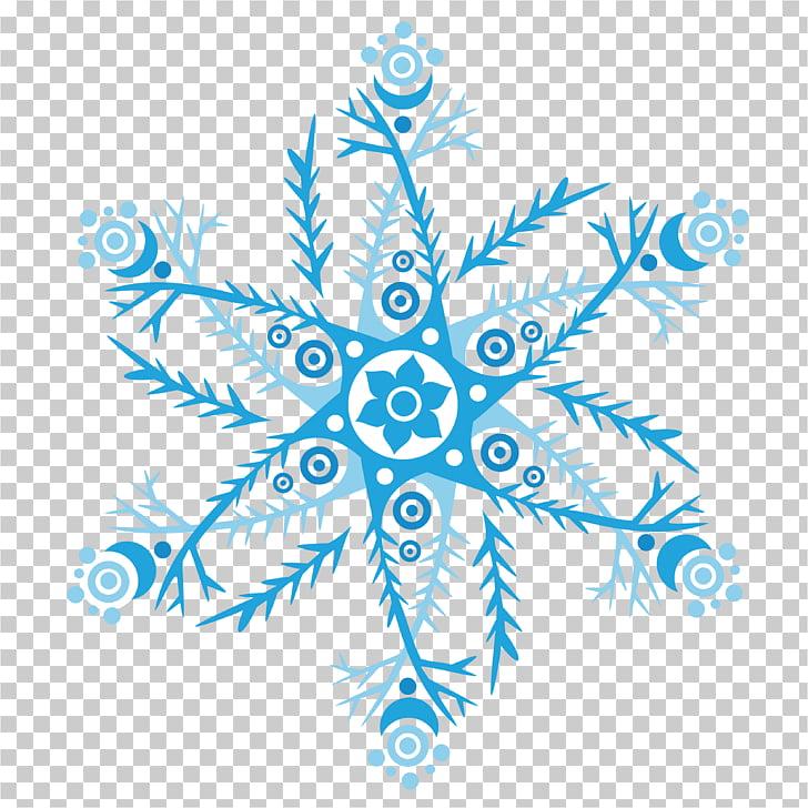 Snowflake Euclidean Blue, Large poster design Snowflake HD.
