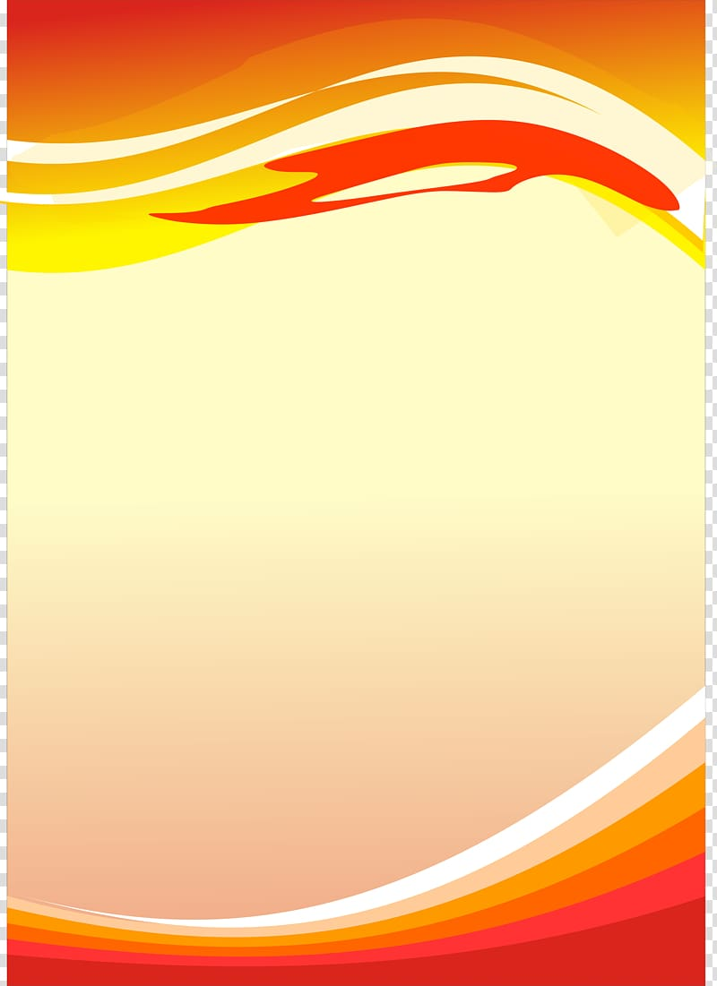 Orange and red frame illustration, Poster Graphic design.
