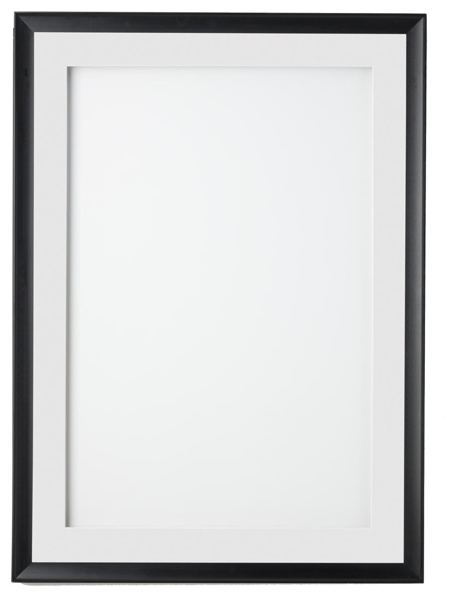 24 x 36 Poster Frame for Wall, Swing Open Door, 2 Mats (Black & White).