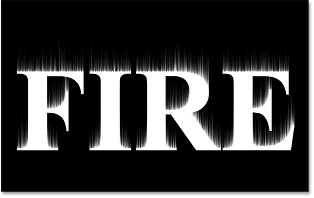 Flaming Hot Fire Text In Photoshop.
