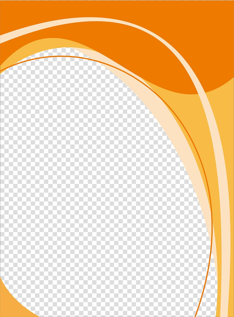 Poster template, orange and yellow color wave transparent.