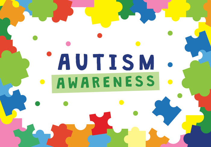 Autism Awareness Poster Vector.