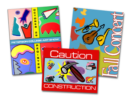 Clipart posters.
