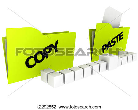 Clip Art of copy and paste icons k2292852.