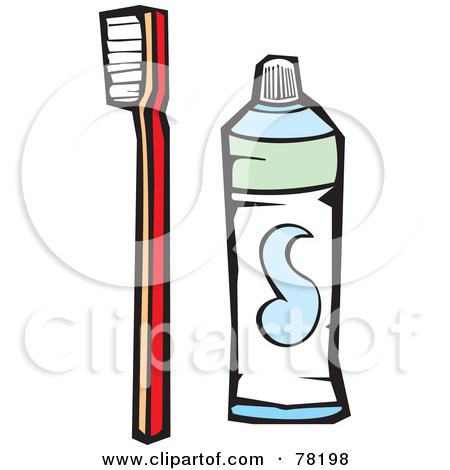 Red Toothbrush And A Tube Of Tooth Paste Posters, Art Prints by.