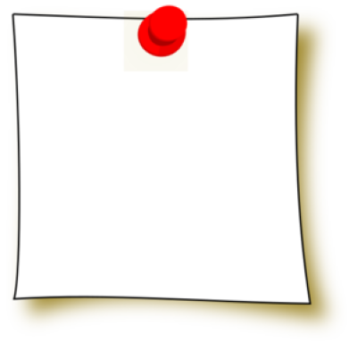 Postit Note Clipart PNG.