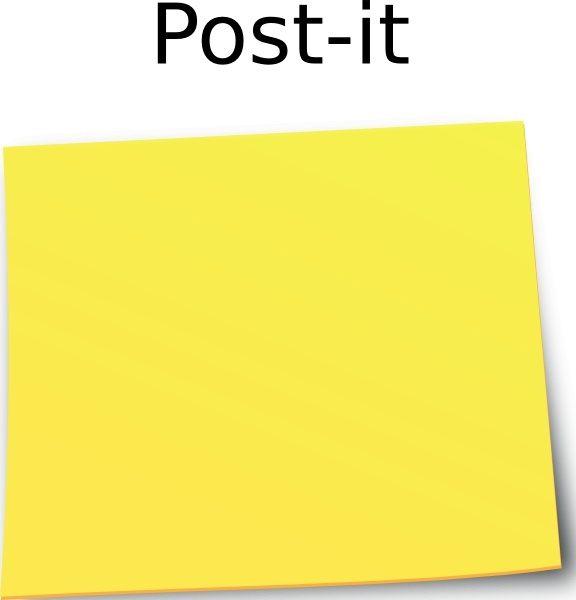 Post It Note clip art Free vector in Open office drawing svg.