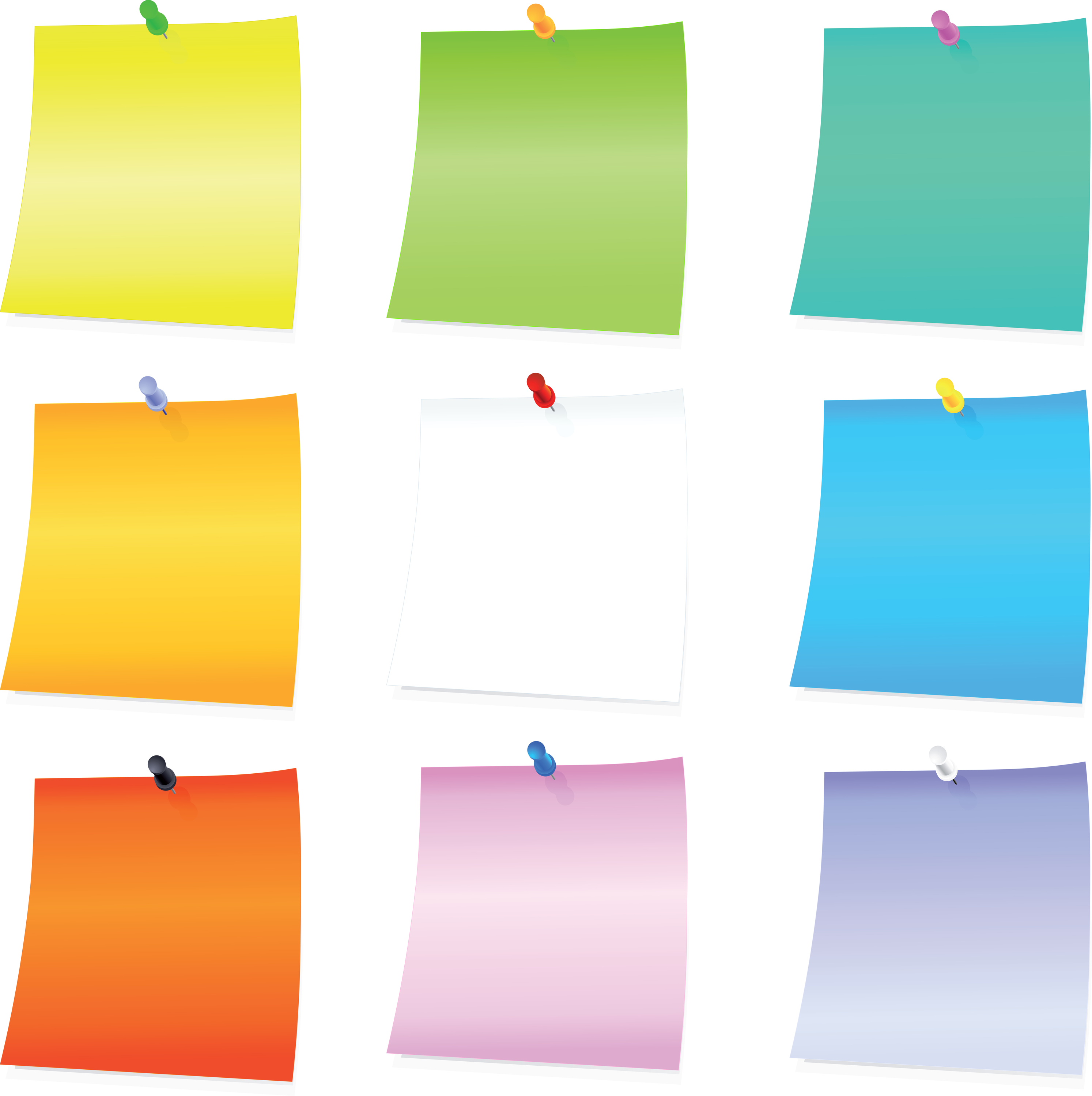 Post-its clipart - Clipground