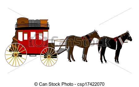 Bilder von Postkutsche, mit, Mannschaft, von, pferden csp17422070.