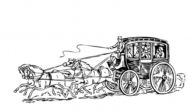Stagecoach Clipart Illustration Free Stock Photo.