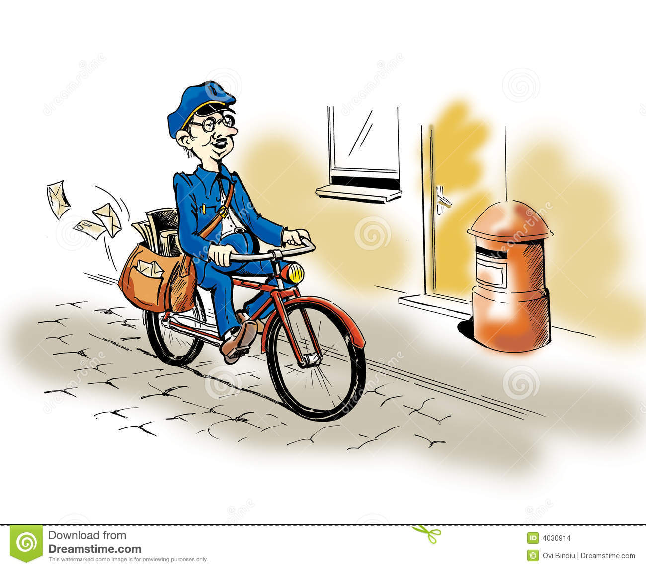 Postman Bike Stock Photos, Images, & Pictures.