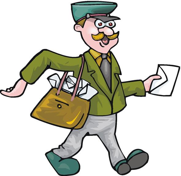 Funny Postman Clipart.