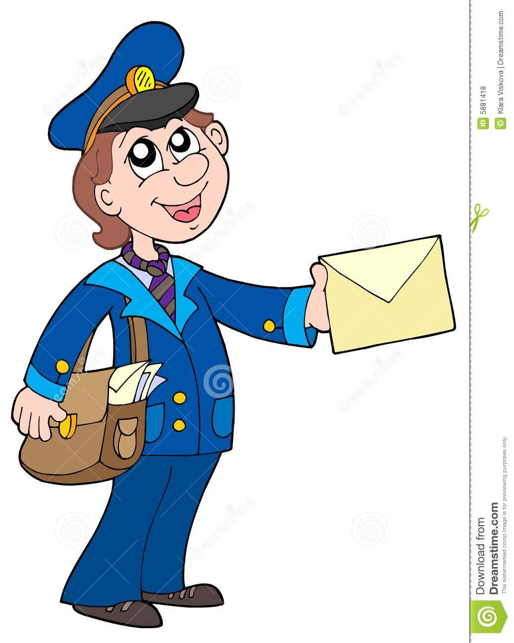 Postman For House S Clipart.