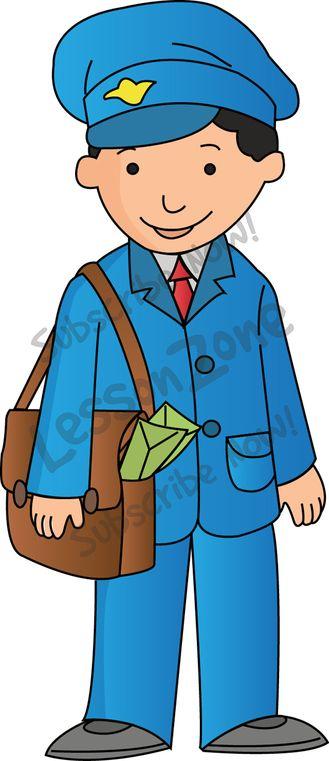 Indian Postman Clipart.