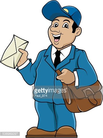 Postman Clipart Image.