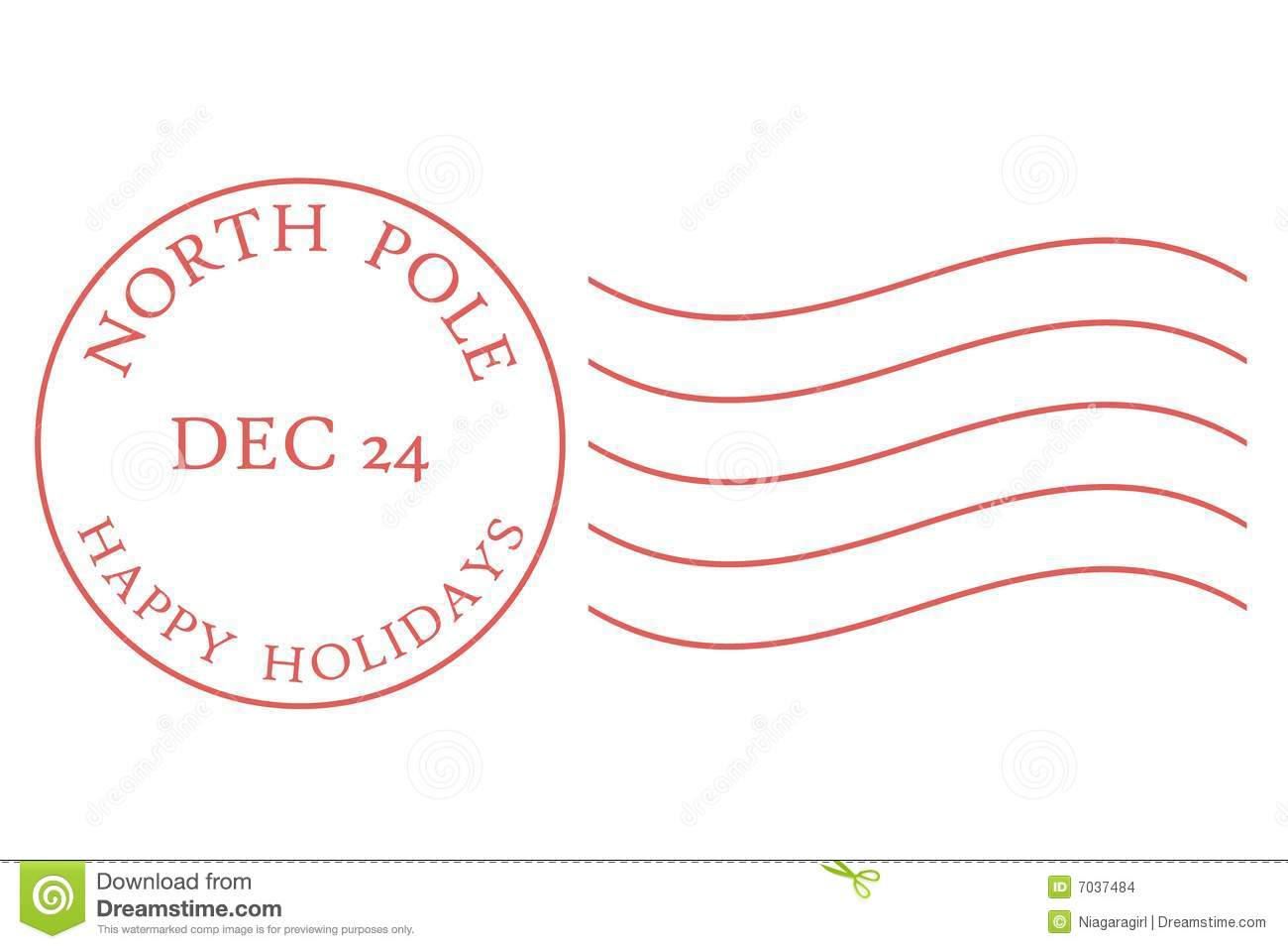 North Pole Postmark Clip Art.