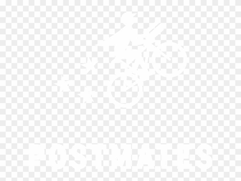 White Postmates Logo, HD Png Download.