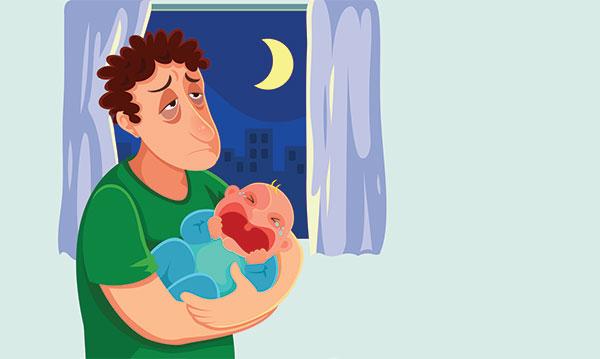 Postpartum Depression in New Dads.