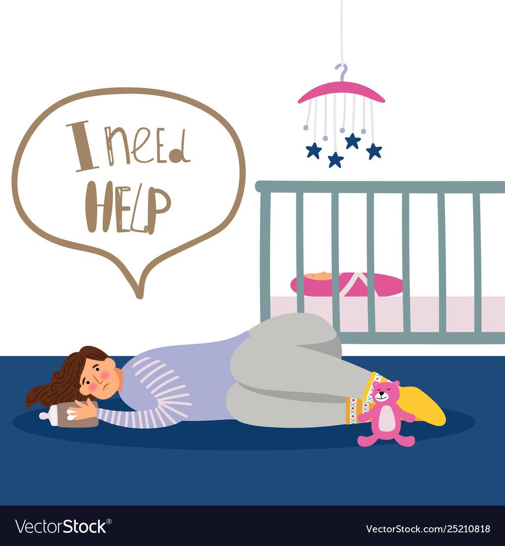 Postnatal depression.